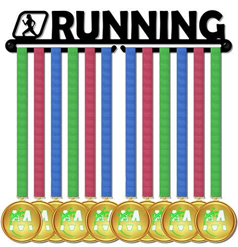 Medagliere Il Primo Originale Medal Display, Porta medaglie, Muro, più di 20 medaglie Made in Italy (Running Woman Design)