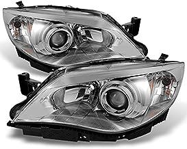 For Subaru Impreza Outback WRX Projector Headlights Chrome Driver/Passenger Headlamps