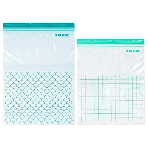 Ikea Istad sacchetti di plastica blu ideali per freezer–15sacchetti da 6L (28.5x 41cm) e 15sacchetti da 4.5L (27x 34cm) totale di 30pezzi