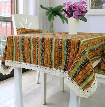 BLUELSS Nappes rectangulaires Vintage Dentelle, Tapis de Table Table à Manger 24 Couvrir nappes Café avec Dessin de Fleurs,140 * 140cm