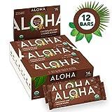 ALOHA Organic Plant Based Protein Bars |Chocolate Chip Cookie Dough | 12 Count, 1.9oz Bars | Vegan...