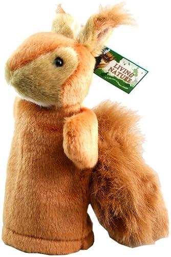 Living Nature Marionnette en peluche écureuil roux