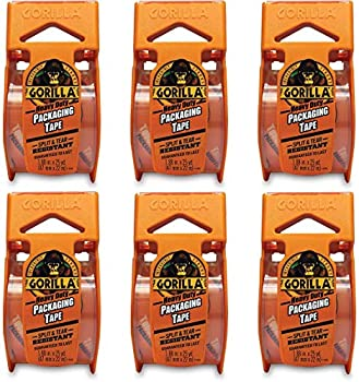 6 Pack Gorilla Heavy Duty Packing Tape with Dispenser