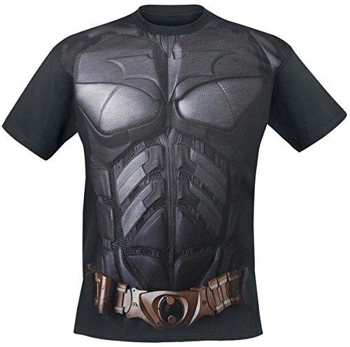 DC Comics Hombres Batman The Dark Knight sublimación Uniforme Camiseta con estampado de (S, Negro)