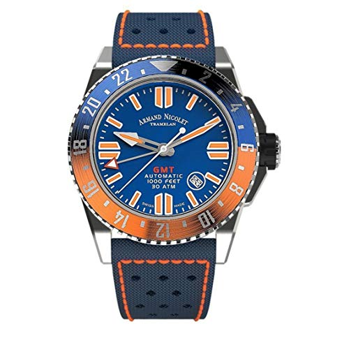 Armand Nicolet JSS GMT Blue Fabric