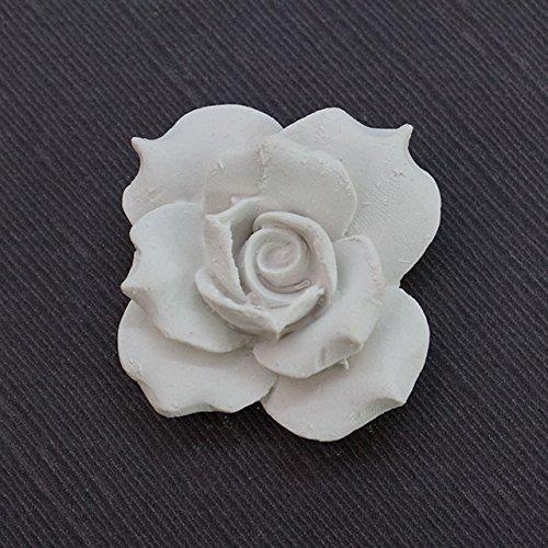 Vaquerprofumatori oggettistica profumata in Gesso (LD1011) Rosa CAPODIMONTE pz 6 cm 6X6