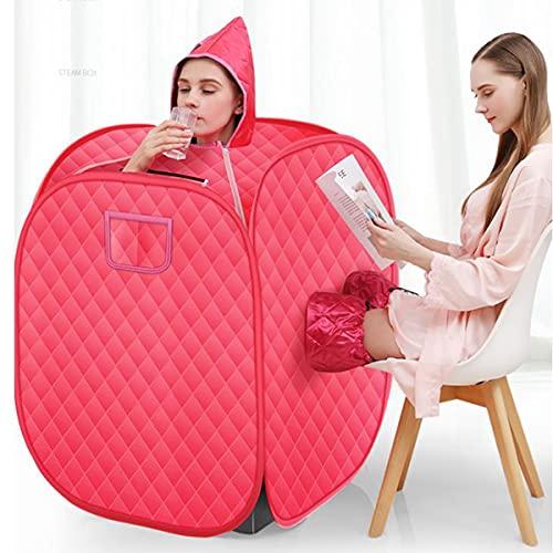 Sedersi Cabina Sauna Portátil de Vapor 1000W 2L Vaporizador de Sauna Personal Relajado y Facial Tienda Liviana para Pérdida De Peso Desintoxicación Tratamiento Relajarse