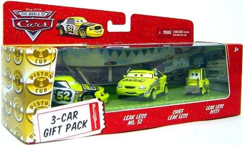 Disney / Pixar CARS Movie 1:55 Die Cast Cars 3-Car Gift Pack Team Leakless (Leak Less No. 52, Chief Leak Less and Leak Less Pitty)