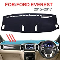 BTOEFE 滑り止めダッシュボードパッドダッシュマットブラックカーペットカバー、フォードエベレストSUV Duratorq 4DR 4x42015-2017アクセサリー用