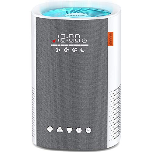 Air Purifier for Home, Air Cleaner with True HEPA Filter for Allergens Smoke Pollen Pets Hair Odors Dust, Sleep Mode, Timer, HEPA Air Purifiers for Large Room Up to 215ft² Bedroom Office, White