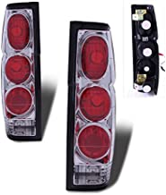 SPPC Chrome Euro Tail Lights Assembly Set For Nissan Hardbody - (Pair) Driver Left and Passenger Right Side Replacement