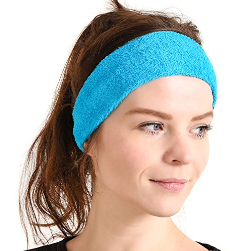 Mens Sports Running Headband Sweatband - Yoga Hairband Sweat Wicking Hair Band
