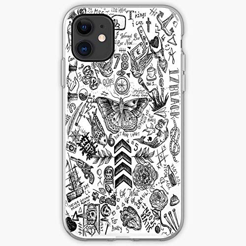 Compatible with iPhone 12/12 Pro Max 12 mini 11 Pro Max SE X XS Max XR 8 7 6 6s Plus Case Zayn 1D Payne Tomlinson Niall Malik Liam Styles Horan One Harry Tattoos Direction Louis Phone Cases Cover