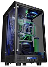 Thermaltake Tower 900 شیشه ای جامد کاملا مدولار E-ATX Vertical Super Tower Gaming Case Case Chassis Black Edition، CA-1H1-00F1WN-00