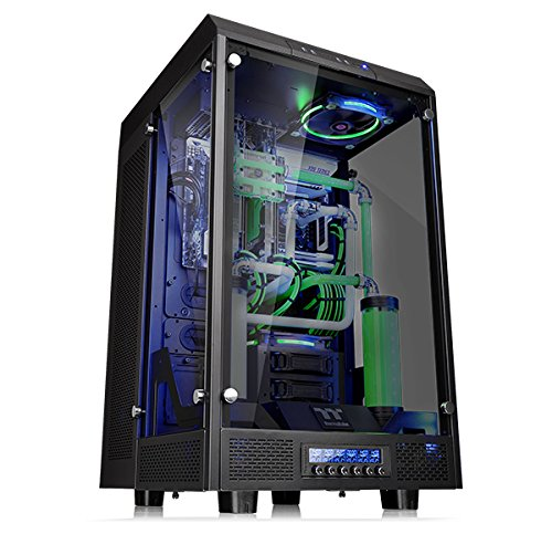 Thermaltake Tower 900 Black Edition Tempered Glass Fully Modular E-ATX Vertical Super Tower Computer...