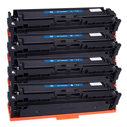 Farbset 4X Original NINETEC NT-H201MP Toner-Kartuschen kompatibel mit HP CF400X CF401A CF402A CF403A 201A / X