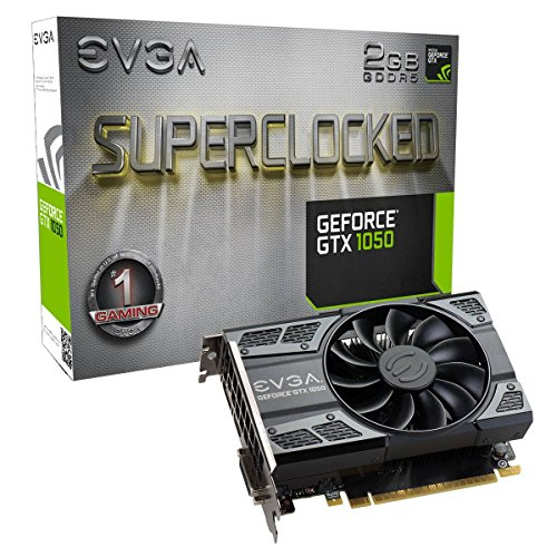EVGA GeForce GTX 1050 SC GAMING, 2GB GDDR5, DX12 OSD Support (PXOC) Grafikkarte 02G-P4-6152-KR