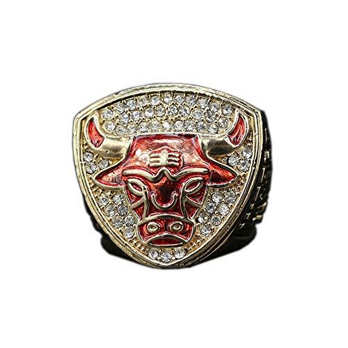 Fei Fei 1993 Chicago Bulls Basketball Jordan Championship Ring Anillos de Hombre, Championship Anillo de réplica Personalizado Anillos de Diamantes para Hombres,with Box,11#