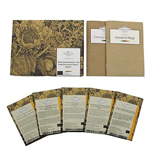 Fiori estivi coloratissimi (bio) - Set regalo di semi con 5 bellissimi fiori annuali