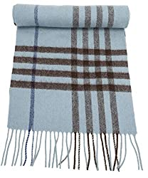 travel scarf best travel scarves for women blue wool plaid scarf