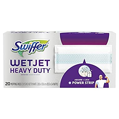 Swiffer WetJet Heavy Duty Mopping Pad Refill, 20 Count