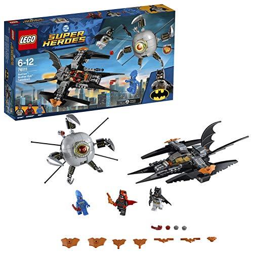 LEGO- Super Heroes Brick, Light Batwoman, OMAC Minifigures And Batjet Vehicle Batman: scontro con Brother Eye, Multicolore, 76111