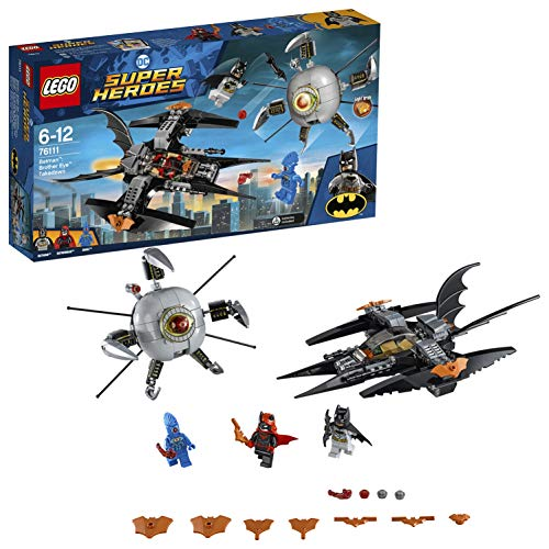 LEGO- Super Heroes Brick, Light Batwoman, OMAC Minifigures And Batjet Vehicle Batman: scontro con Brother Eye, Multicolore, 76111
