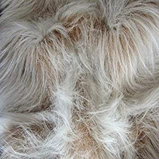 CRS Fur Fabrics Tela de Pelo sintético de Pelo Largo, diseño de Camello en la Parte Delantera