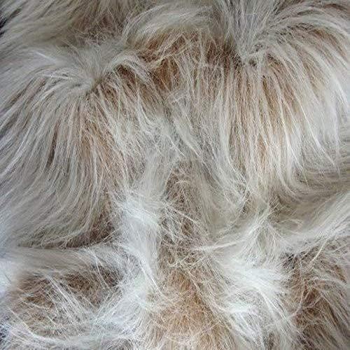 Lange Flor Fun Kunstfell Stoff Material–Camel Frost