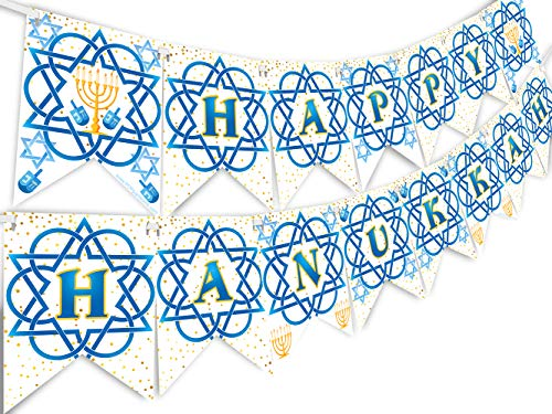 Happy Hanukkah Banner - Hanukkah Party Supplies - Hanukkah Party Decorations - Hanukkah Banner