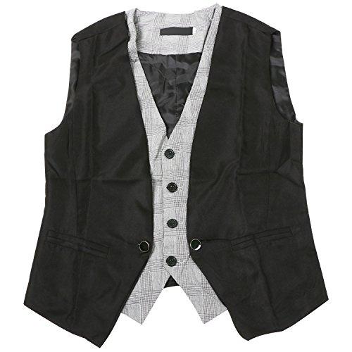 TRIXES 2 Piece design Mens Fashion Vest Gilet - Taille EU XS/(Tag M)