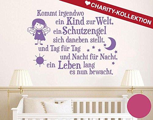 Klebefieber Wandtattoo Schutzengel Tag und Nacht B x H: 150cm x 108cm Farbe: Pink