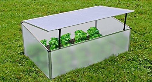 Benelando® Frühbeetkasten aus Polycarbonat und Aluminium Rahmen