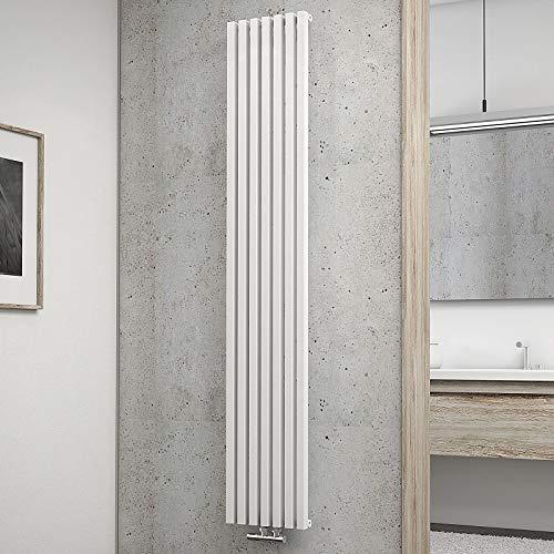 Schulte Design-Heizkörper Lyon, 180 X 32 Cm, 766 Watt Leistung, Mittelanschluss, Alpin-Weiß, Wohnraumheizkörper Für Zweirohr-Systeme