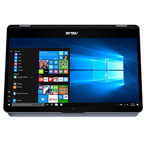 Asus VivoBook Flip TP410UA-EC386T Notebook Convertibile, Display da 14', Processore i5-8250U, 1.6 GHz, SSD da 256 GB, 4 GB di RAM, Star Gary [Layout Italiano] [Italia]