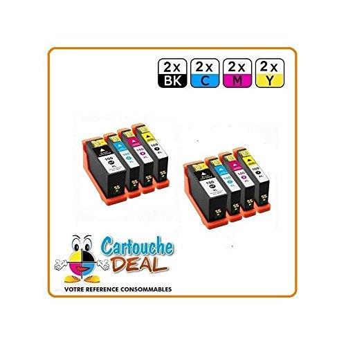 Deal- Genérico-Juego de 8 cartuchos de tinta LEXMARK 100, 100XL XL-Prestige Pro 805 Prevail Pro 705 Pro 200, 205, 700 901 905 Pro205 Pro200