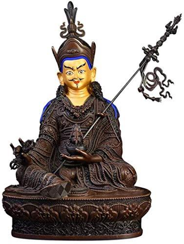 LULUDP-Decoración Latón Padmasambhava Estatua de Buda, la Figura Religiosa Escultura, Lucky decoración del hogar, símbolo de la sabiduría y la compasión Manualidades