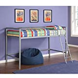 DHP Junior Loft Bed Frame With Ladder, Multifunctional Space-Saving Design