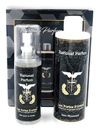 """Set Les Perles D'Orient """" National Parfum"""" Deodorante 115ml + Doccia Crema 250ml equivalente' Costume National Scent Intense' Unisex"""