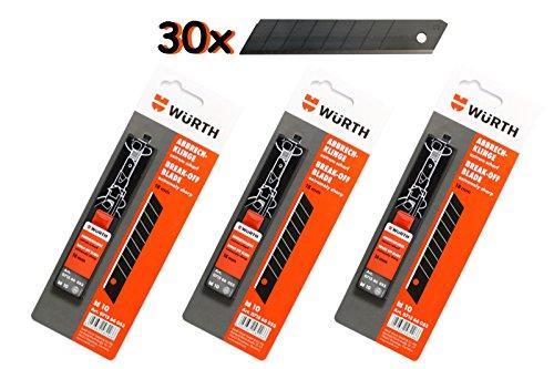 Würth Abbrechklingen 3x je 10 Stück im Schiebespender Cutter-Messer