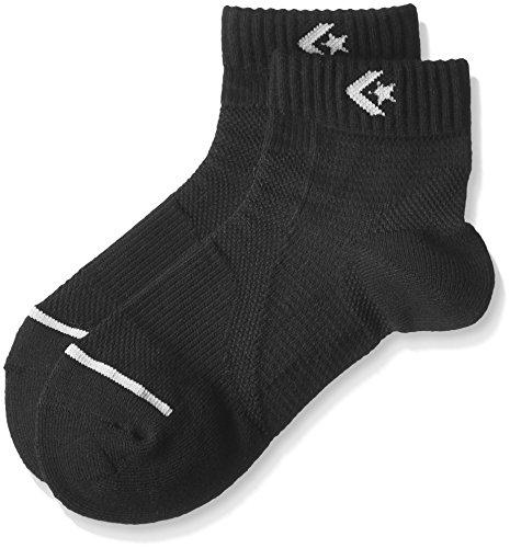 [コンバース] バスケ 靴下 試合/練習用 サポート機能付き 抗菌 防臭 ソックス ジャンプアップソックス CB102002 ブラック/グレー 2325