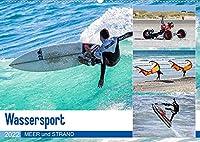 Wassersport - Meer und Strand (Wandkalender 2022 DIN A2 quer): Spass auf den Wellen und am Strand (Monatskalender, 14 Seiten )