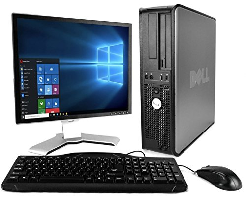 DELL Optiplex with 20-Inch Monitor (Core 2 Duo 3.0Ghz, 8GB RAM, 1TB HDD, Windows 10 Professional), Black (Renewed)']