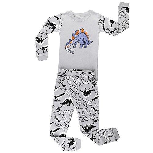 elowel Boys Dinosaur 2 Piece Pyjamas Set 100% Cotton Size 18-24 Months