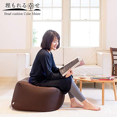 フレックス販売ビーズクッション埋もれる幸せ日本製2WAYMサイズアースカラーブラウンPCM-5512T
