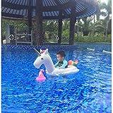 Xyl Baby-Pool schwimmt aufblasbaren Schwimmring Baby Einhorn Kinder Fantasie Kinderschwimmring mit Griffen geeignet für Kinder 1-6 Jahre