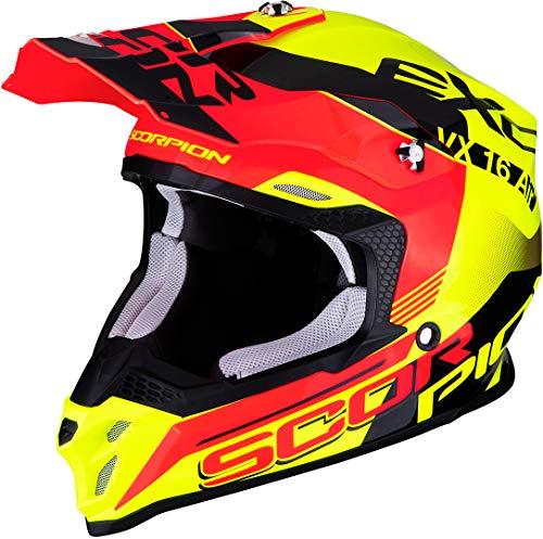 Scorpion Unisex-Adult VX-16 AIR Arhus M, Yellow-Neon-Red Flu, M