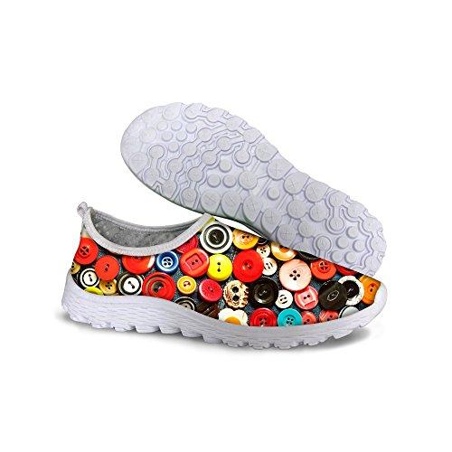 FOR U DESIGNS Best Women's Mesh Light Trail Walking Running Shoes Size 11
