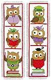 Vervaco Cross Stitch Bookmark Kit Owls (Set of 2) 2.4' x 8'