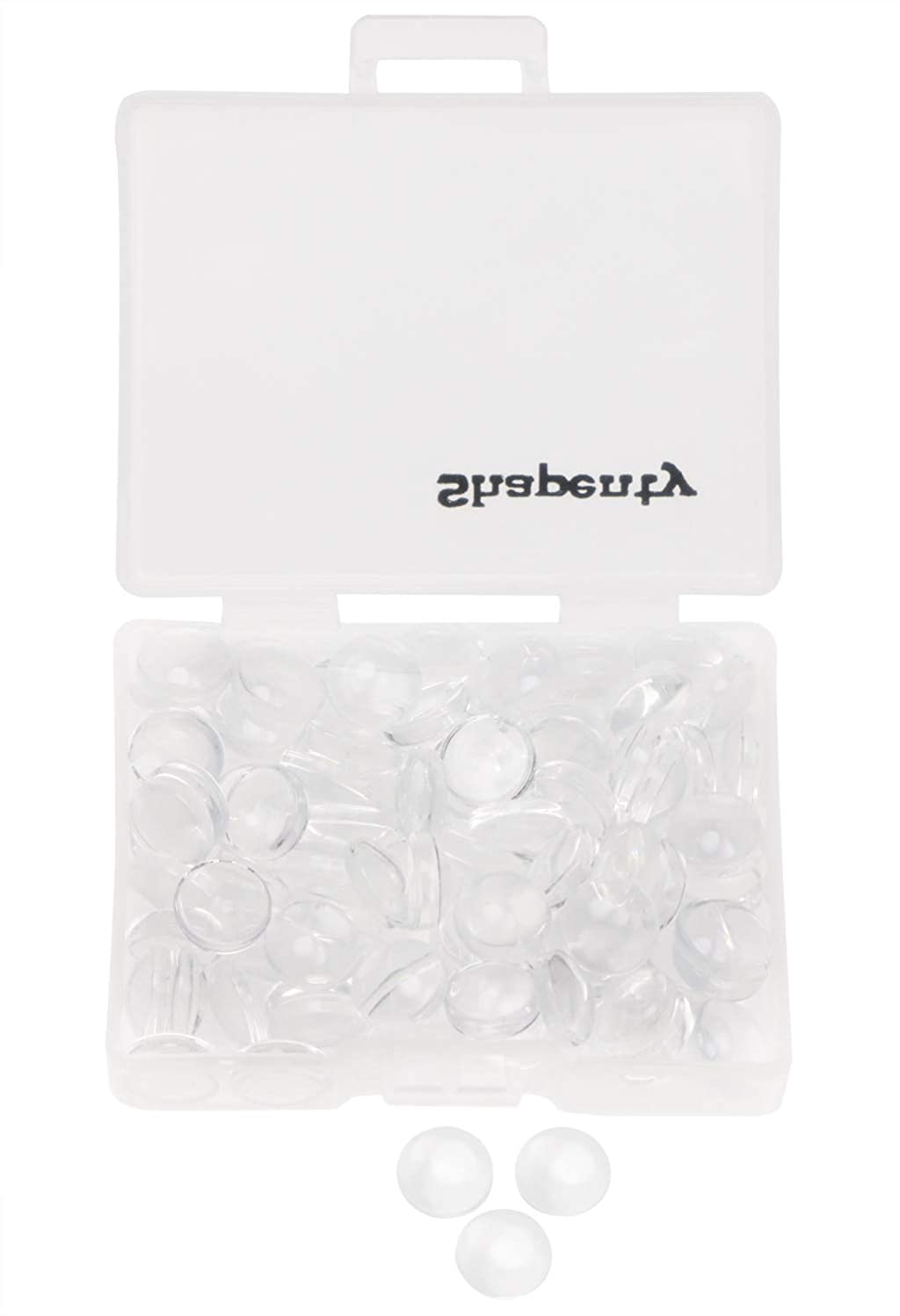 Shapenty Clear Round Glass Dome Tiles Cabochons Charms Bulk Small Flat Back Imitation Gemstone for Cameo Photo Pendant Necklace Bracelet Earring Ring Keychain DIY Craft Jewelry Making,100PCS (8 MM)